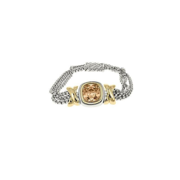 SILVER GOLD MAGNETIC BRACELET CHAMPAGNE ( 1148 CH )