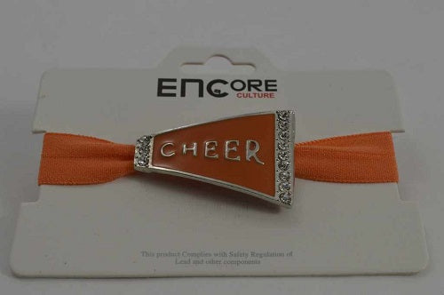 ORANGE BRACELET WITH CHEER PENDANT ( 0084 )