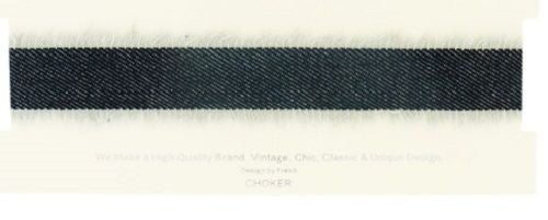 Jean Denim Frayed Choker 28mm