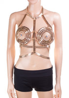 Gold Wonder Woman Style Bra Jewelry Body Chain
