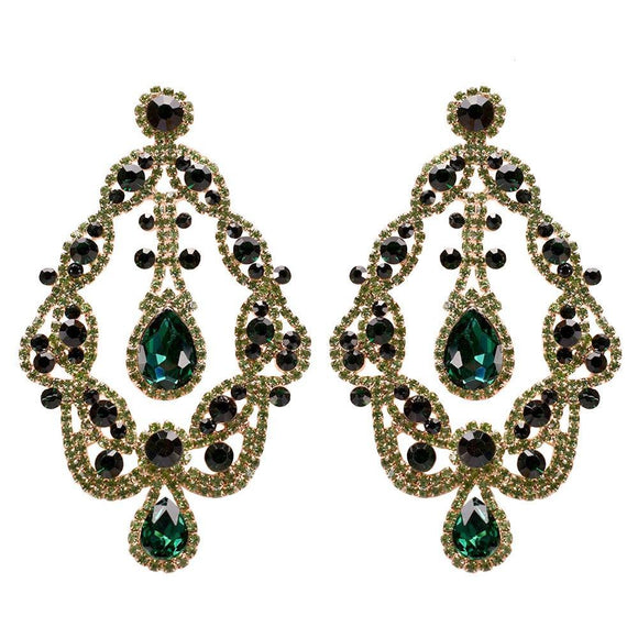 Large GOLD GREEN Rhinestones ( 10194 )