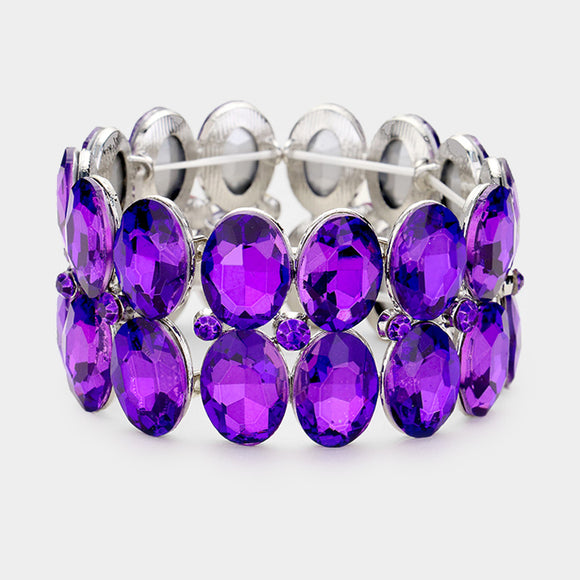 PURPLE STRETCH BRACELET ( 0080 )