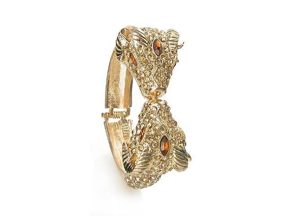 GOLD RAM BANGLE TOPAZ STONES ( 5548 )