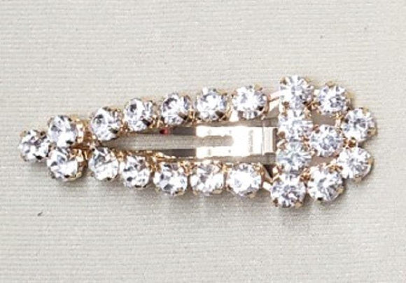 GOLD HAIR CLIP CLEAR STONES ( 6065 )