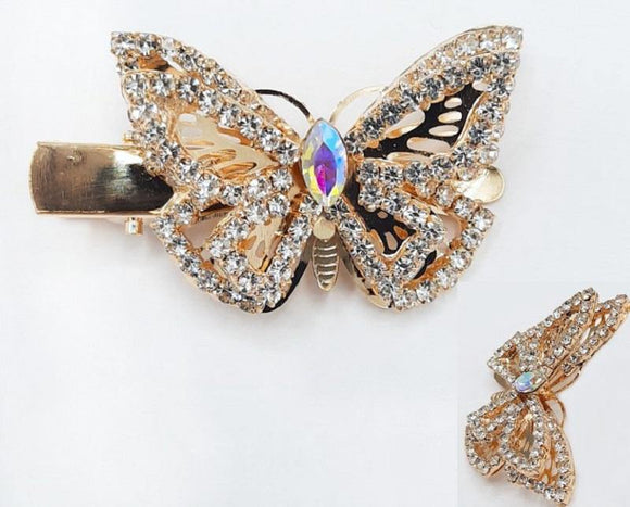 GOLD BUTTERFLY HAIR CLIP ( 6092 )
