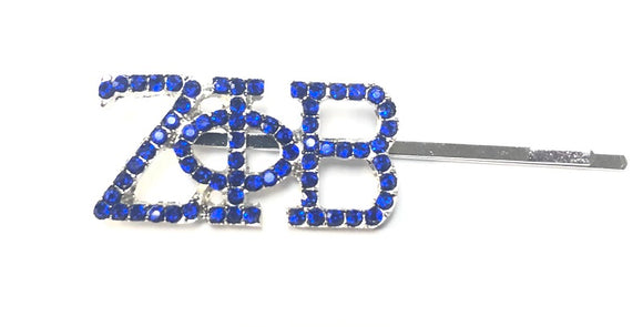 SILVER BLUE ZETA PHI BETA BROOCHES ( 2155 )