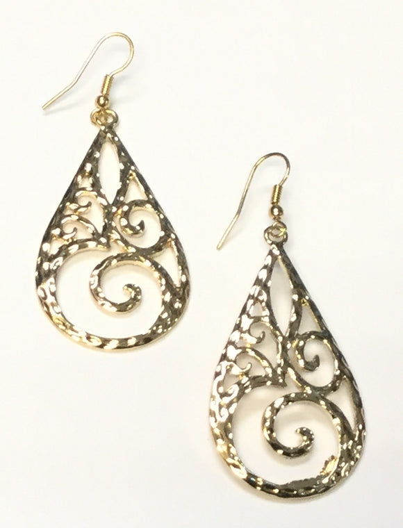 DANGLING DROP FILIGREE EARRINGS ( 5960 )