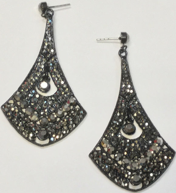 HEMATITE EARRINGS WITH STONES ( 164508 )