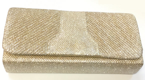 PEACH COLOR SHINY PURSE CLUTCH BAG ( 7438 )