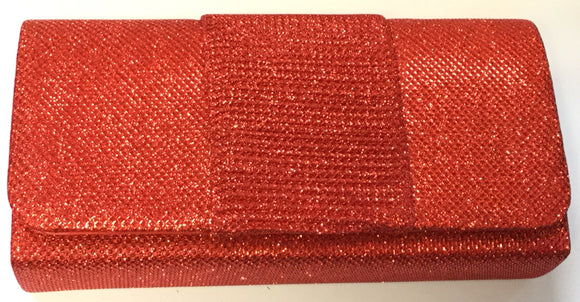 RED SHINY PURSE CLUTCH BAG ( 7437 )