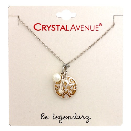 Two Tone Charm Necklace with Be Legendary Card