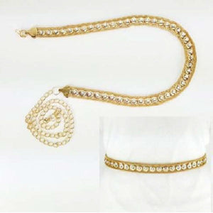 Gold Trimmed Round Stone Belt ( 1157 )