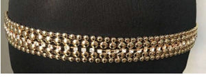 Gold Belt with One Layer of Rhinestones ( 1184 )