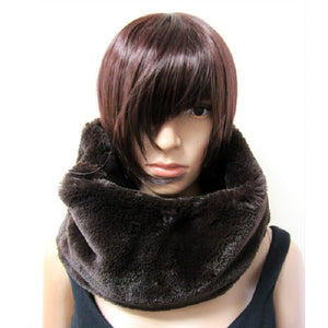 Brown Turtle Neck Style Scarf ( 3017 )