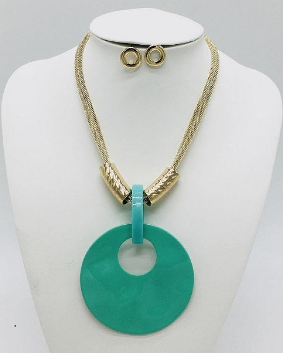 GOLD MINT NECKLACE SET ( 10067 GMN )