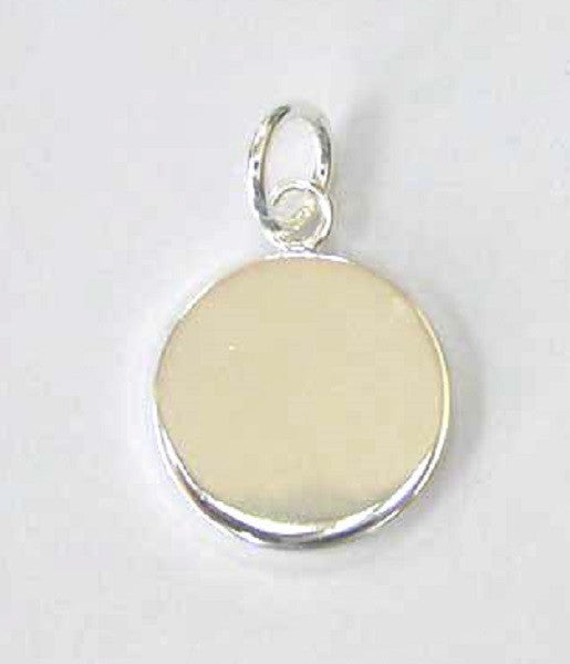 20mm Round Silver Pendant