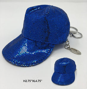 Blue Cap Coin Purse Keychain ( KEY14 )