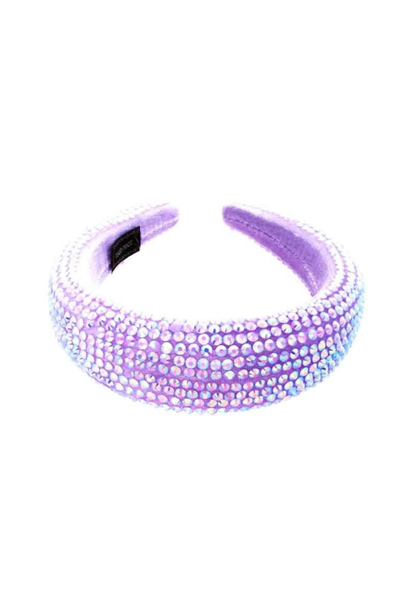 PURPLE AB RHINESTONE STATEMENT FASHION HEADBAND ( 2721 PP ) - Ohmyjewelry.com