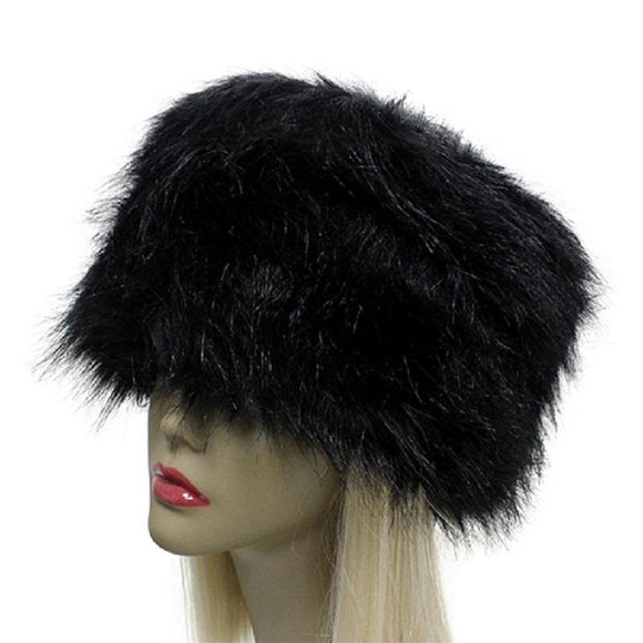 BLACK FAUX FUR RUSSIAN STYLE HAT ( 2451 )