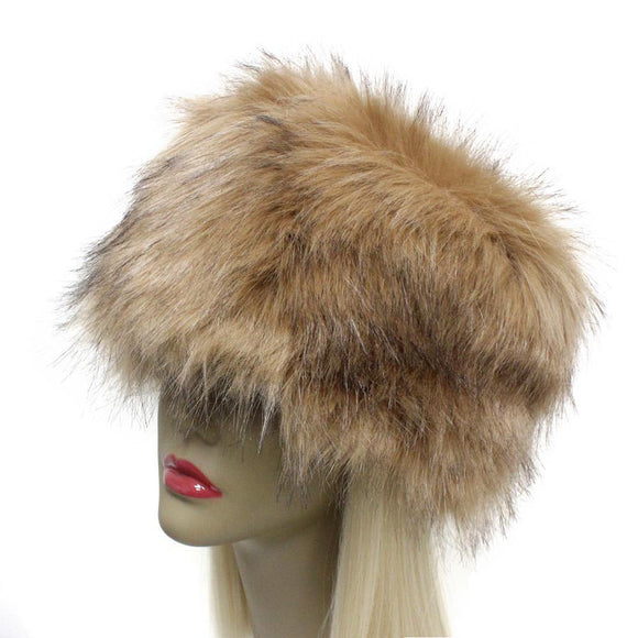 BROWN FAUX FUR RUSSIAN STYLE HAT ( 2451 )