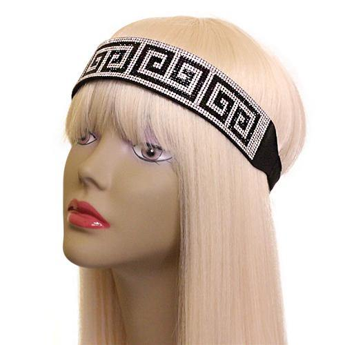 BLACK CLEAR STONE BLACK HEADBAND ( 2456 )