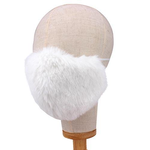 FLUFFY WHITE FACE MASK ( 2665 WH )
