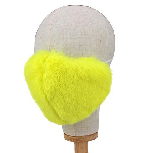 FLUFFY YELLOW FACE MASK ( 2665 YW )