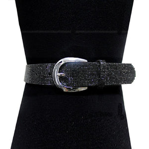 "1.25"" Black Crystal Pave Belt ( 2069 )"