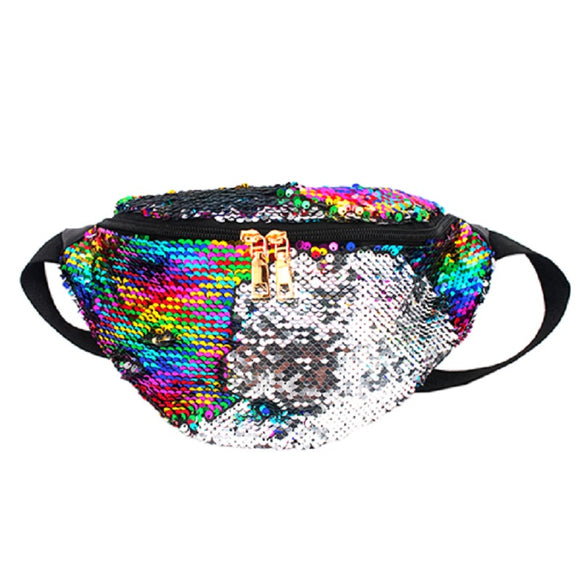 Multi Color Mermaid Sequins Fanny Pack ( 8145 )