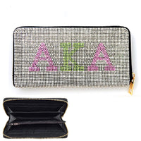 AKA WALLET WITH PINK AND GREEN STONES ( 6050 )