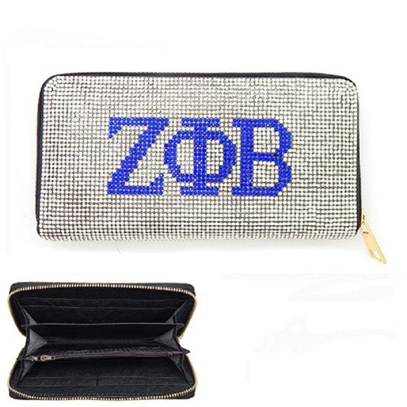 WALLET CLEAR BLUE ZETA PHI BETA ( 6050 )
