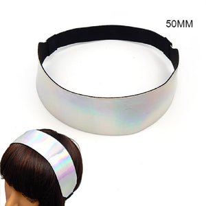 "2"" Elastic Silver Holographic Headband ( 3018 )"