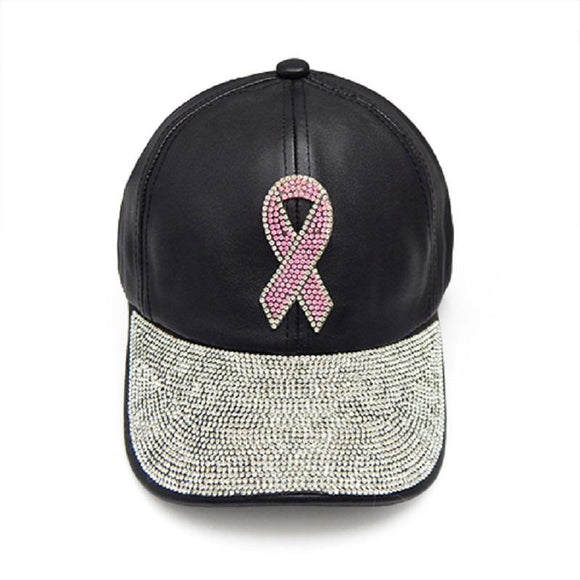 BLACK HAT PINK RIBBON BREAST CANCER STONES ( 8032 )