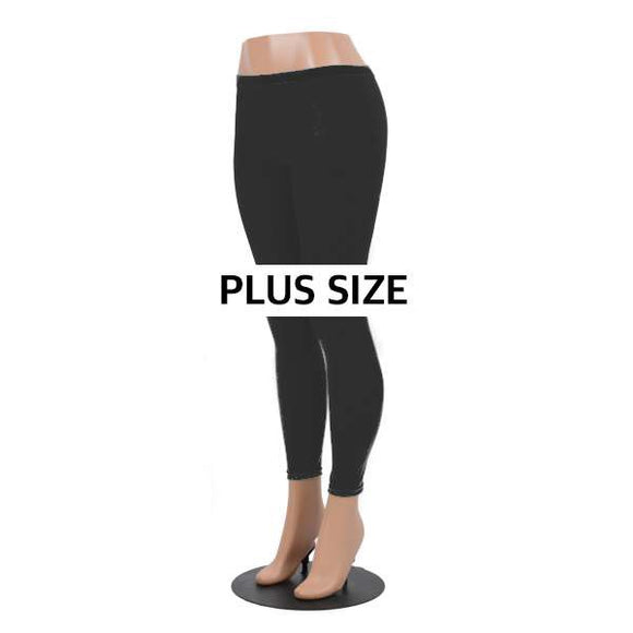 Black Stretch Plus Size Leggings
