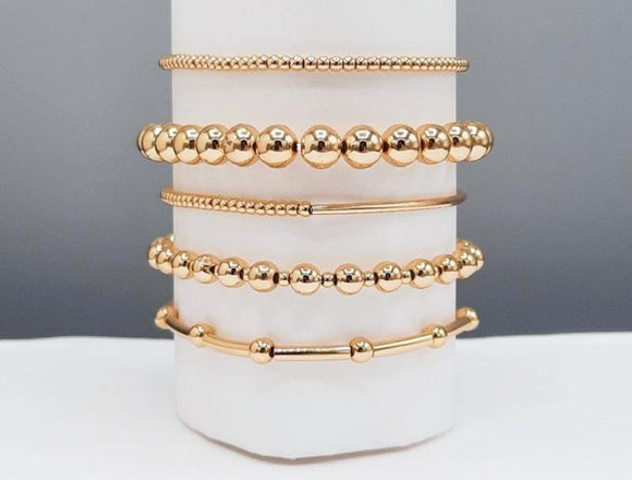 GOLD STRETCH BRACELETS ( 1220 GD )