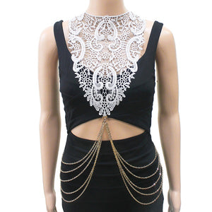 White Lace and Gold Body Chain ( 7004 )