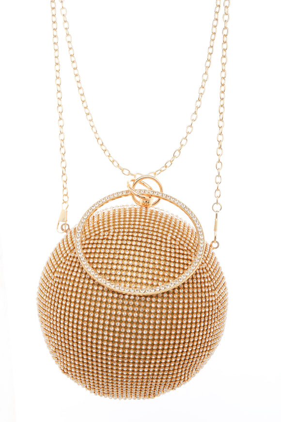 Gold Crystal Ball Evening Purse ( 0010 )