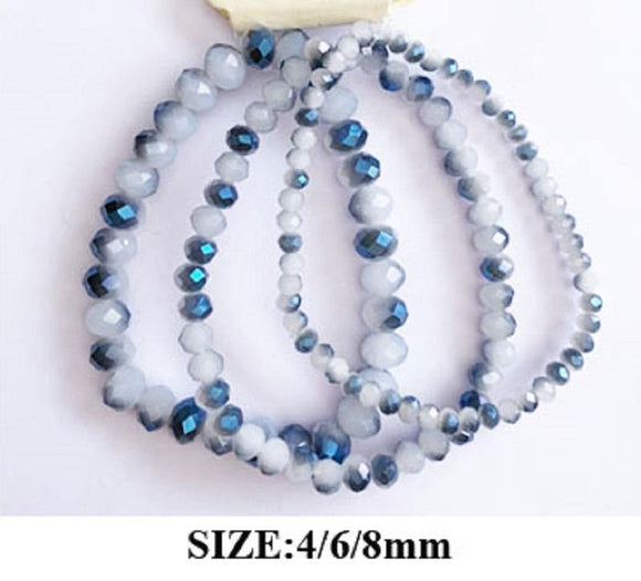 GRAY OPAL CRYSTAL STRETCH BRACELETS ( 83476 )