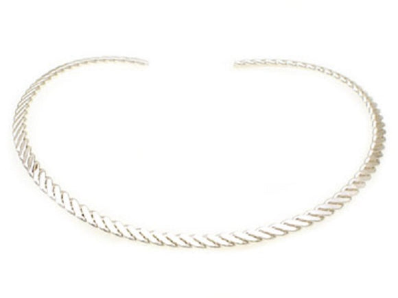 Silver Textured Open Slider Necklace for Pendants