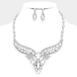 Rhinestone Formal Evening Necklace Set