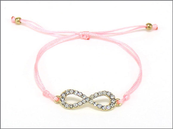 GOLD PINK BRACELET WITH INFINITY DESIGN ( 04241 )