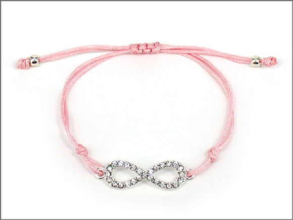 PINK BRACELET WITH INFINITY DESIGN ( 04241 )