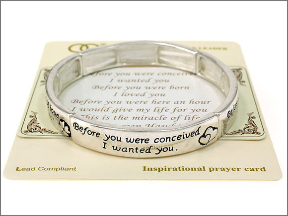 Miracle of Life Inspirational Stretch Bracelet