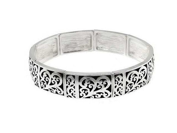 Filigree Design Stretch Bracelet