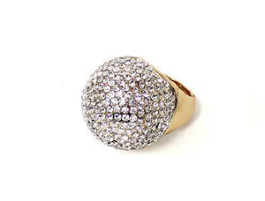 Rhinestone Dome Stretch Ring