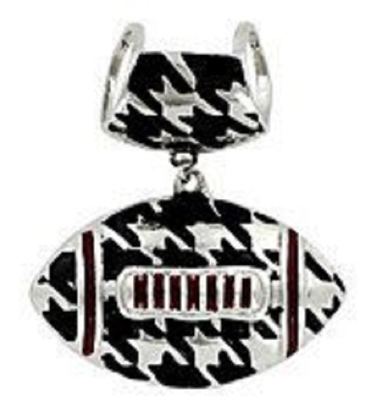 Houndstooth Football Scarf & Necklace Pendant