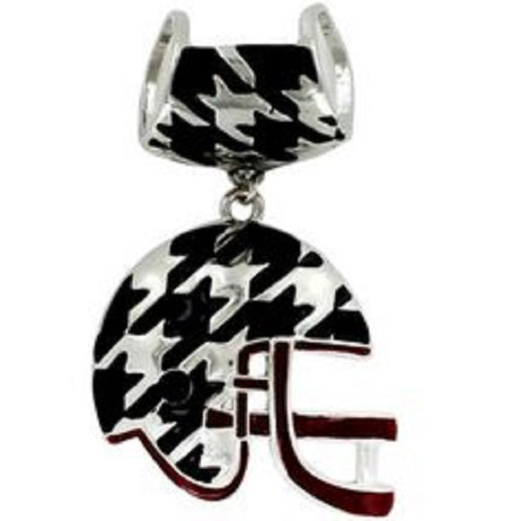 Houndstooth Football Helmet Scarf & Necklace Pendant