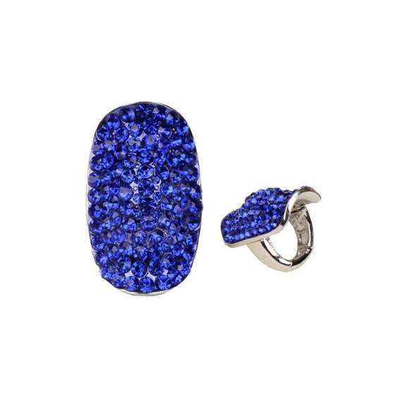 SILVER RING WITH BLUE STONES ( 157 )