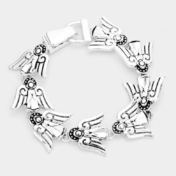 Silver Angel Magnetic Bracelet ( 0901 )