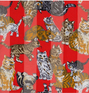 Red Cat Theme Satin Scarf